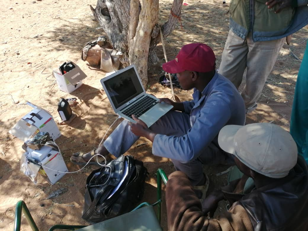 Downloading data from the camera traps