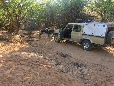 Figure 1: Wild camping in Ondendu